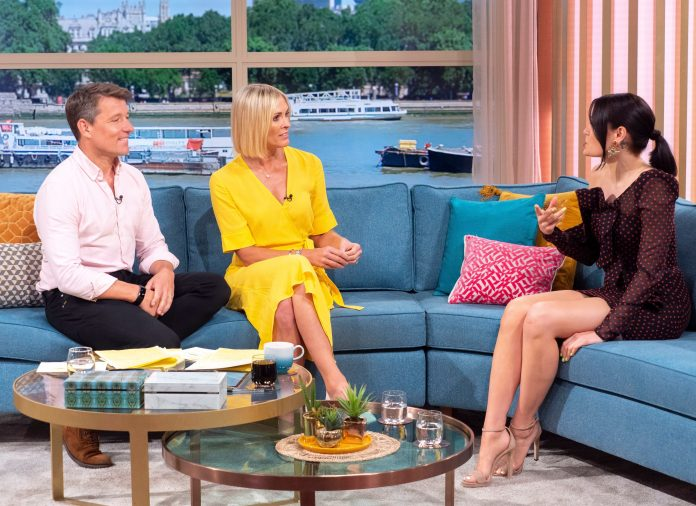 Jessie Jay Oozes Beauty In Polka Dots Off Shoulder Midi Dress