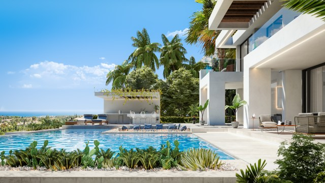 The villa sits within a luxury development for the super rich