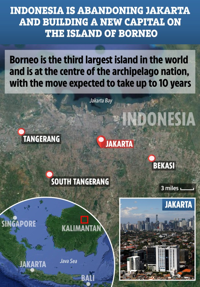 Indonesia Abandoning Jakarta And Building New Capital On Rainforest Island Of Borneo Before World S Third Largest City Sinks Into The Ground