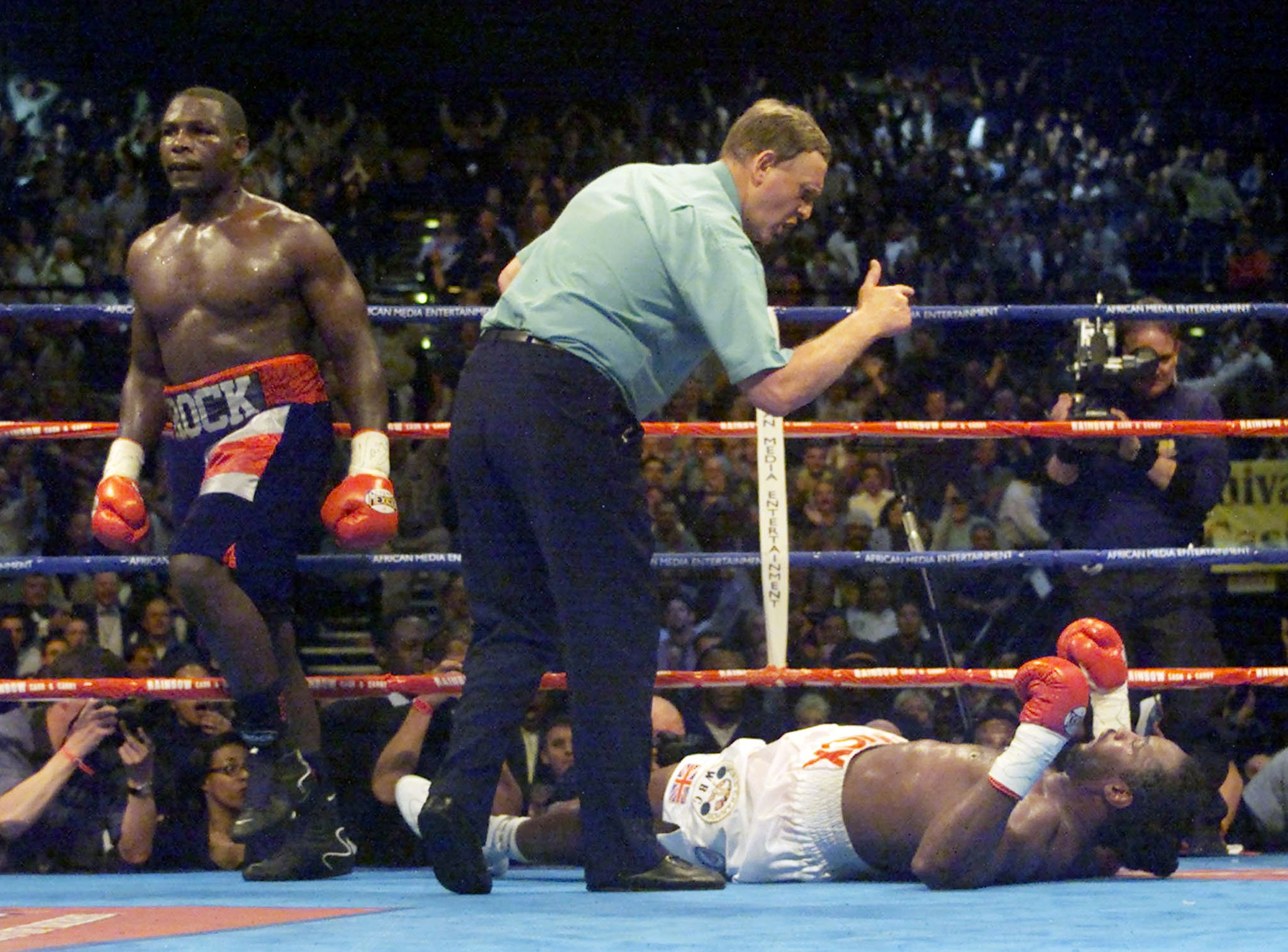 Lewis suffered a shock loss to Hasim Rahman, but avenged the defeat in the rematch