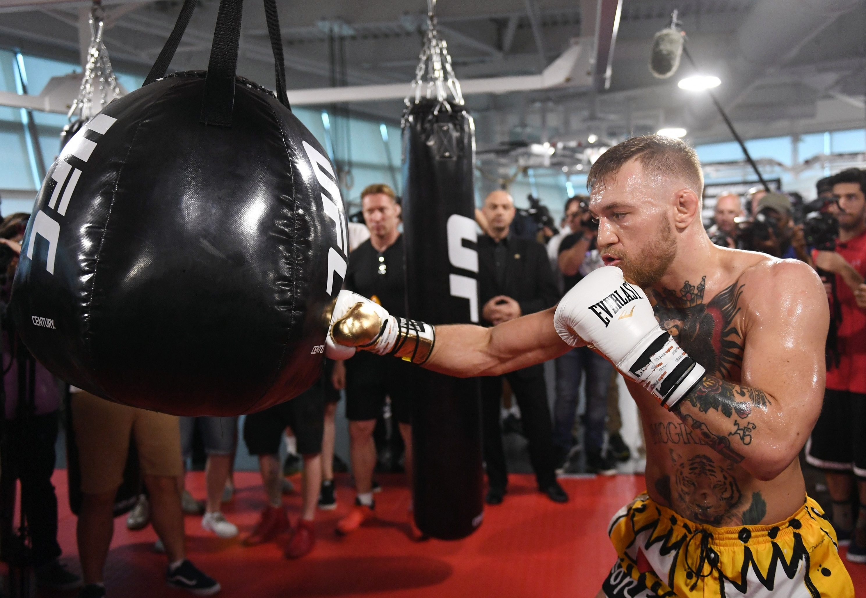 McGregor made his pro boxing debut against Floyd Mayweather in August 2017
