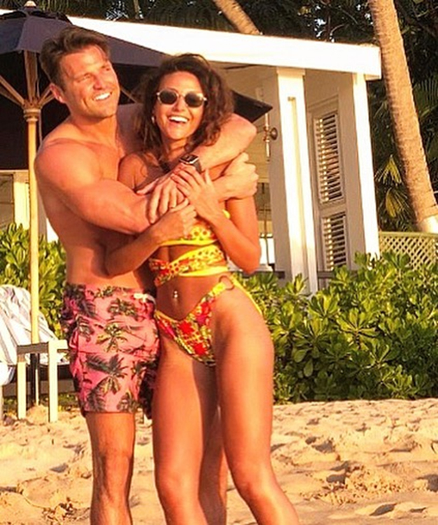 Michelle with TV presenter husband Mark Wright