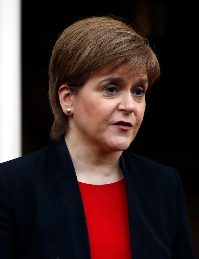SNP leader Nicola Sturgeon has said her MPs could help install Mr Corbyn as a temporary PM