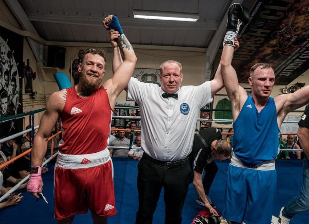 McGregor competed in an amateur boxing bout in April at his former club Crumlin ABC