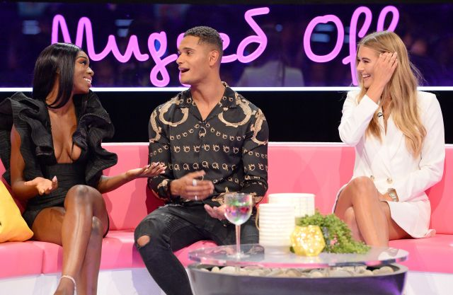 The model came face to face with Yewande and Arabella on Love Island: The Reunion