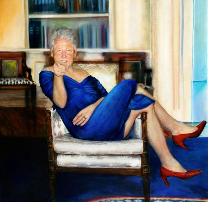 Jeffrey Epstein had this provocative portrait of Bill Clinton in his New York mansion, according to reports