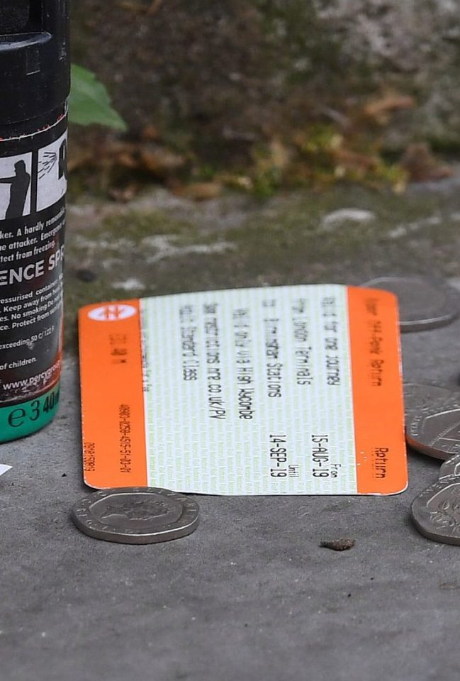 A return train ticket shows a fare from Birmingham