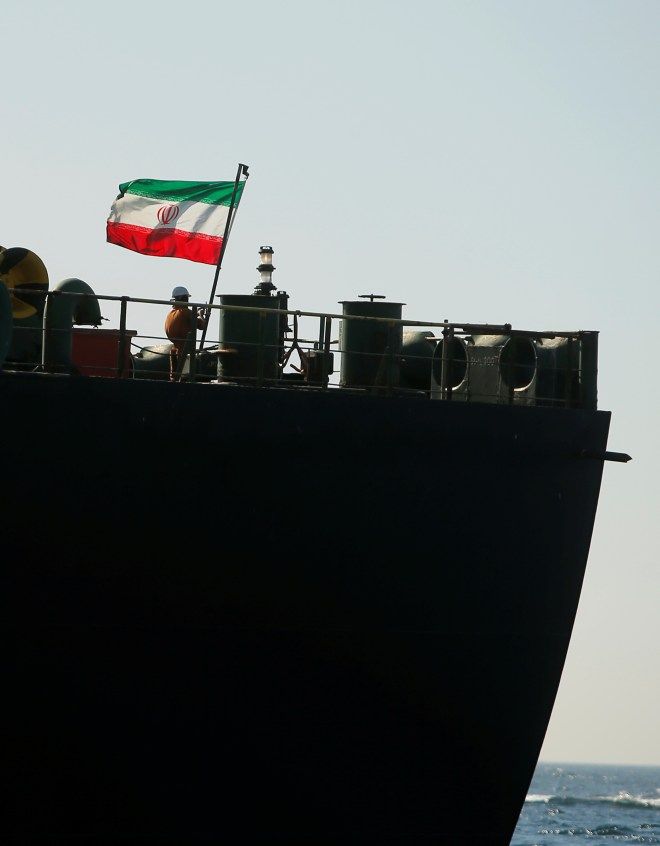 The ship also raised the Iranian flag today