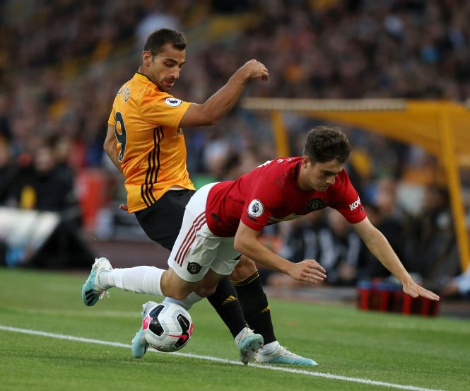 Daniel James did not endear himself to the home crowd after going down easily a number of times and picking up a yellow for diving