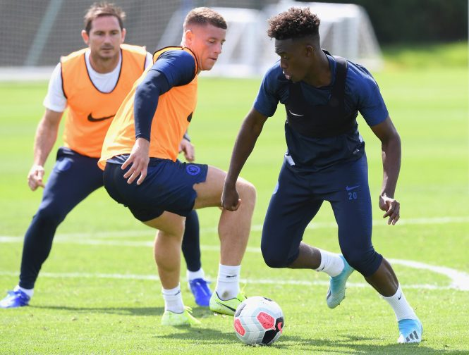 Callum Hudson-Odoi has returned to full training after recovering from an Achilles injury