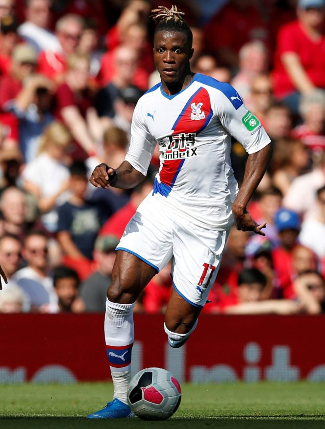 PSG are plotting a £100m move for Crystal Palace star Wilfried Zaha