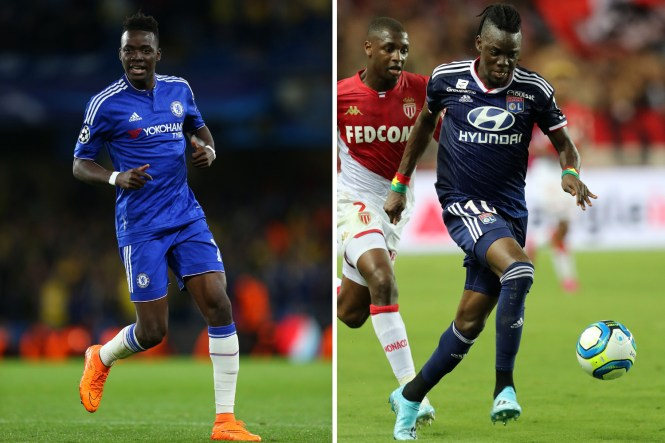 Bertrand Traore, pictured right with Lyon, ended up playing just 16 times for Chelsea