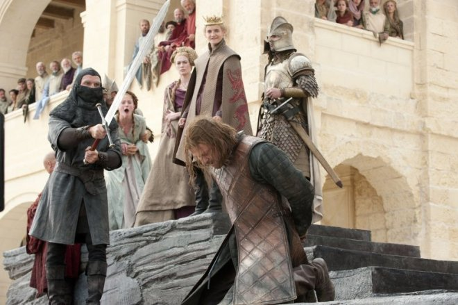 Ned Stark being beheaded