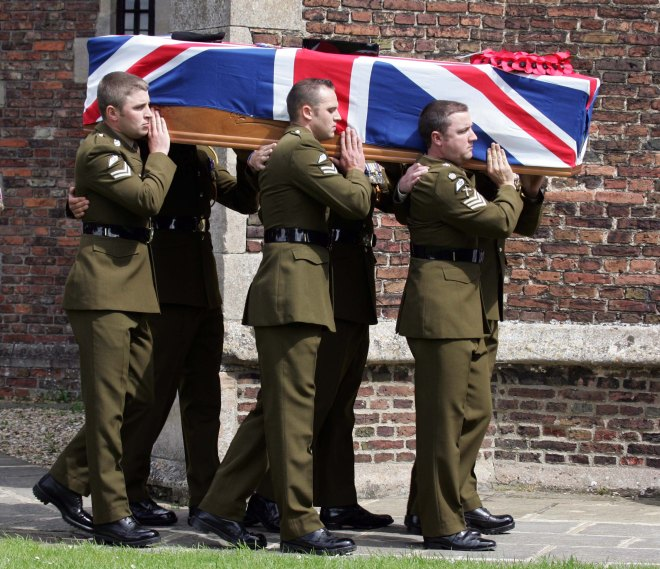 The Funeral of 26-year-old Cpl Lee Scott took place at St Faiths Church, Gaywood Kings Lynn