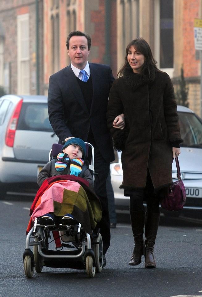 David Cameron said his sons diagnosis had challenged his entire world