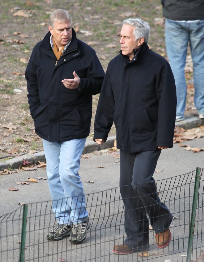 Prince Andrew spotted strolling through New Yorks Central Park with Jeffrey Epstein in 2010 - two years after the sex beast plead guilty to charges of procuring for prostitution a girl under 18