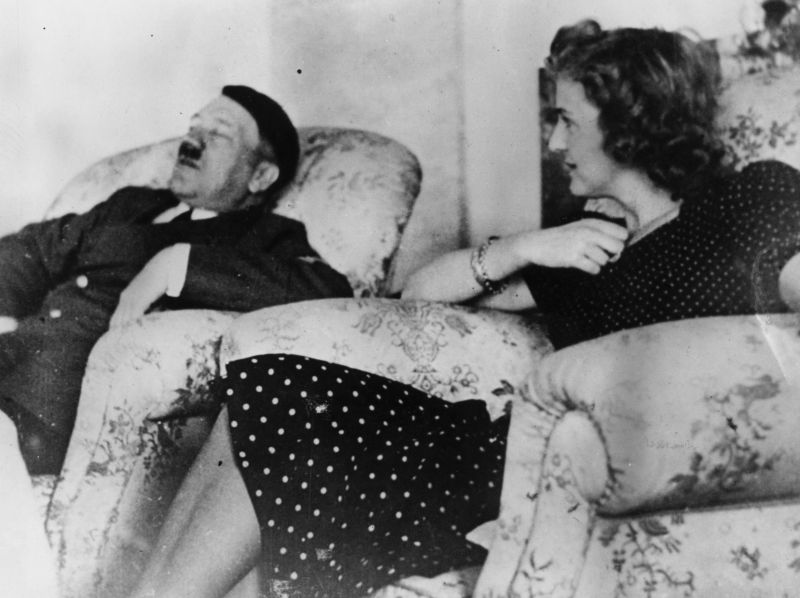 Hitler and Braun photographed together