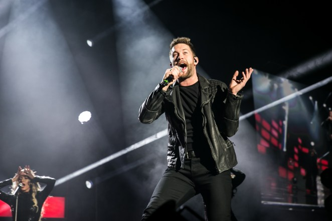 Linnen, 30, performing on The X Factor in 2017. He got into a road rage row in April 2018
