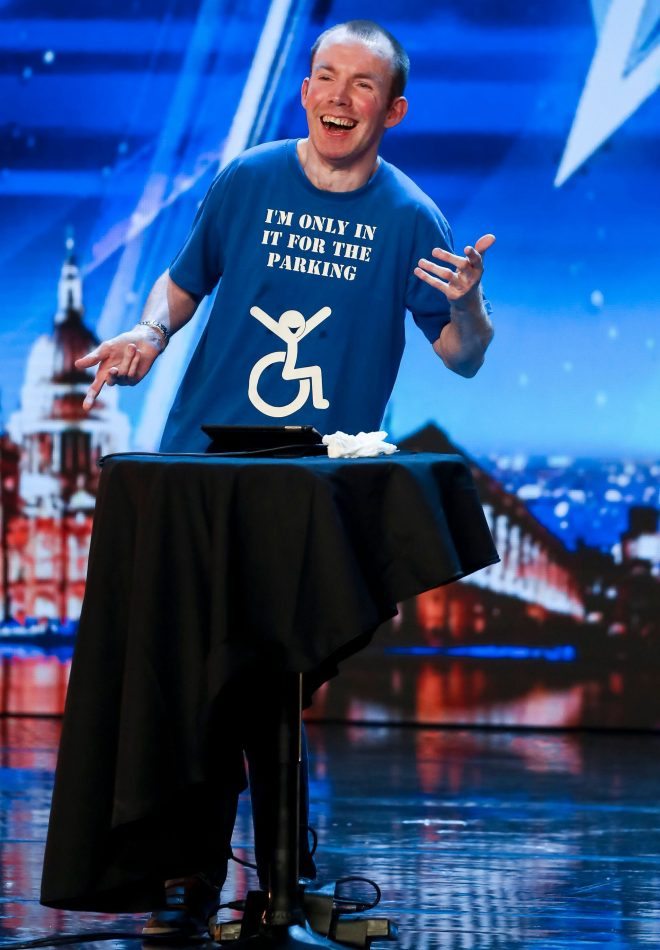 Lee Ridley, aka Lost Voice Guy, won in 2018
