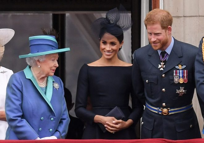 Guests have been keen to get the Queens opinion on the Sussexes use of private jets