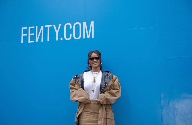 Rihanna attends the Fenty Exclusive Preview earlier this year in Paris