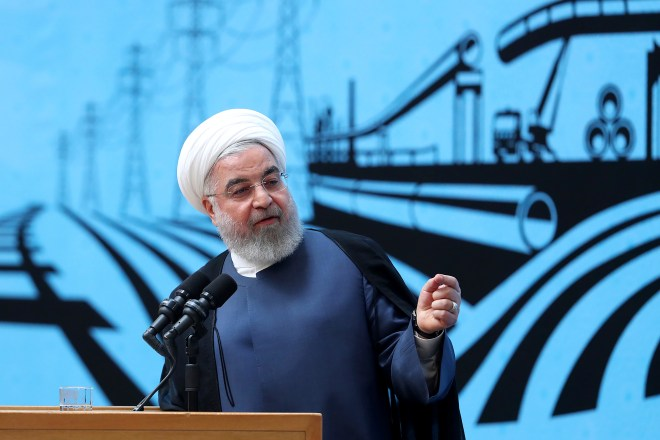 President Hassan Rouhani's officials have denied Iran was involved in the oil attacks