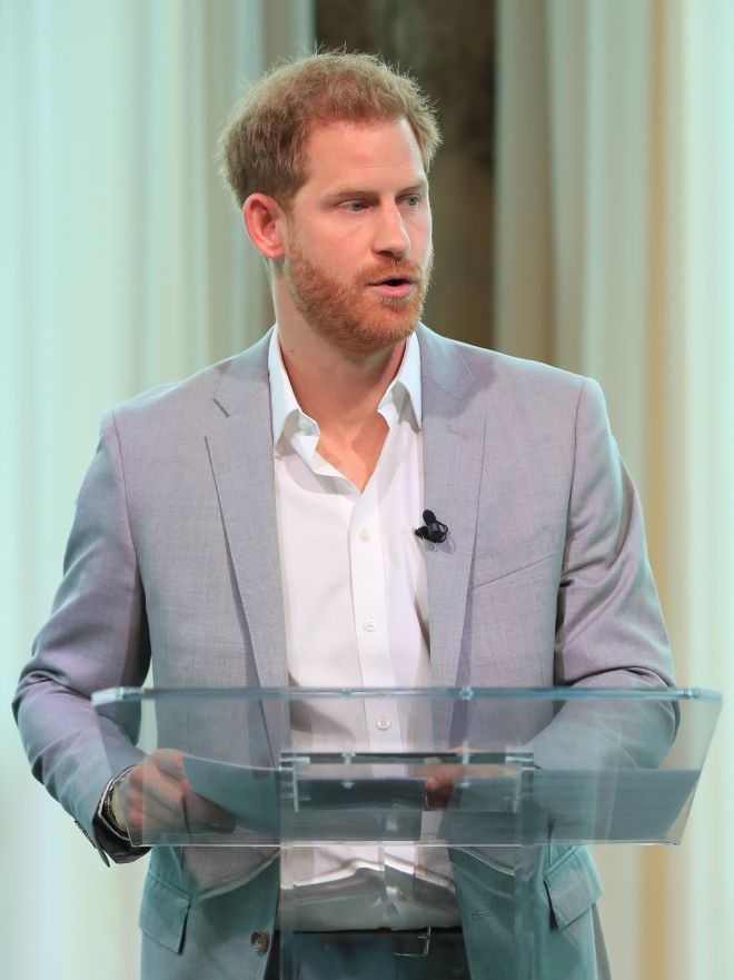 Prince Harry told the crowd 'no one is perfect' during his speech