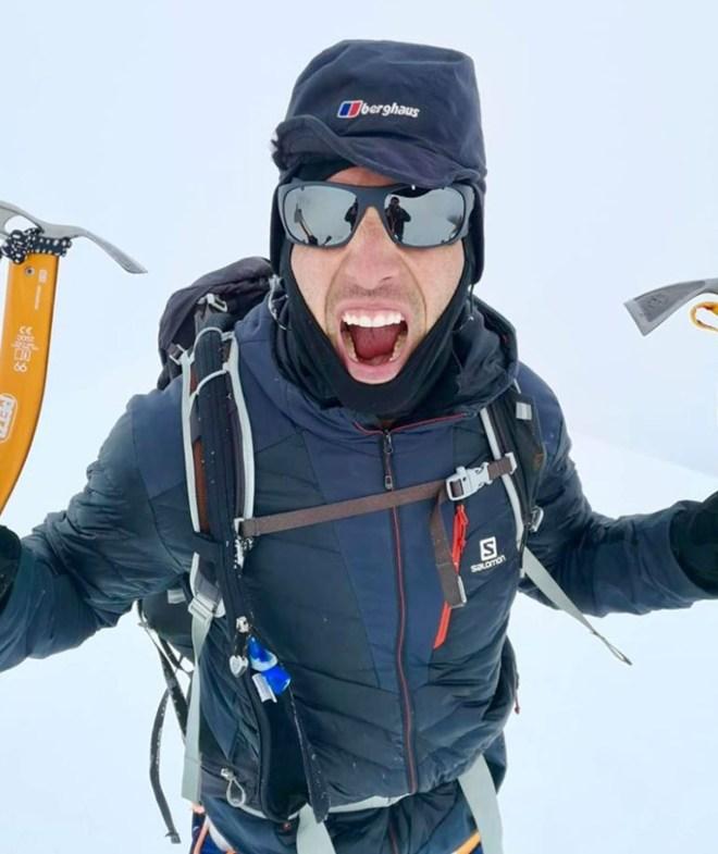 Matt has said he intends to climb the mountain again to collect the machine