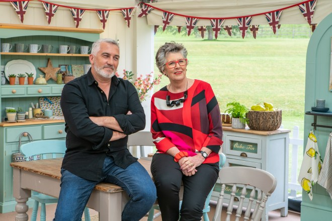 Paul Hollywood and Prue Leith on GBBO