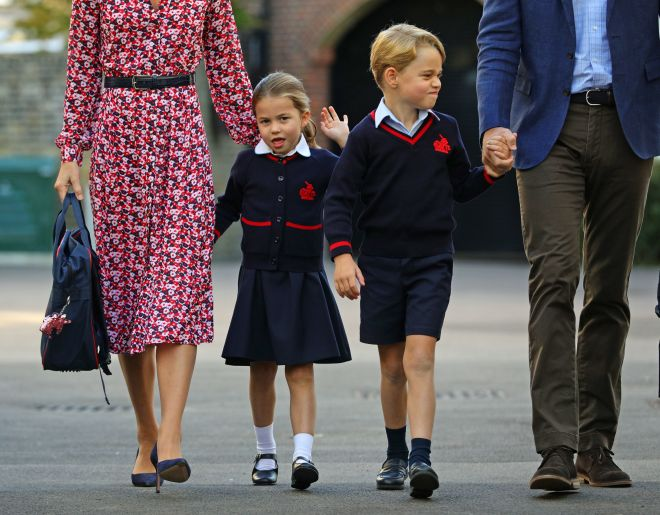 Princess Charlotte will follow in her big brother's footsteps