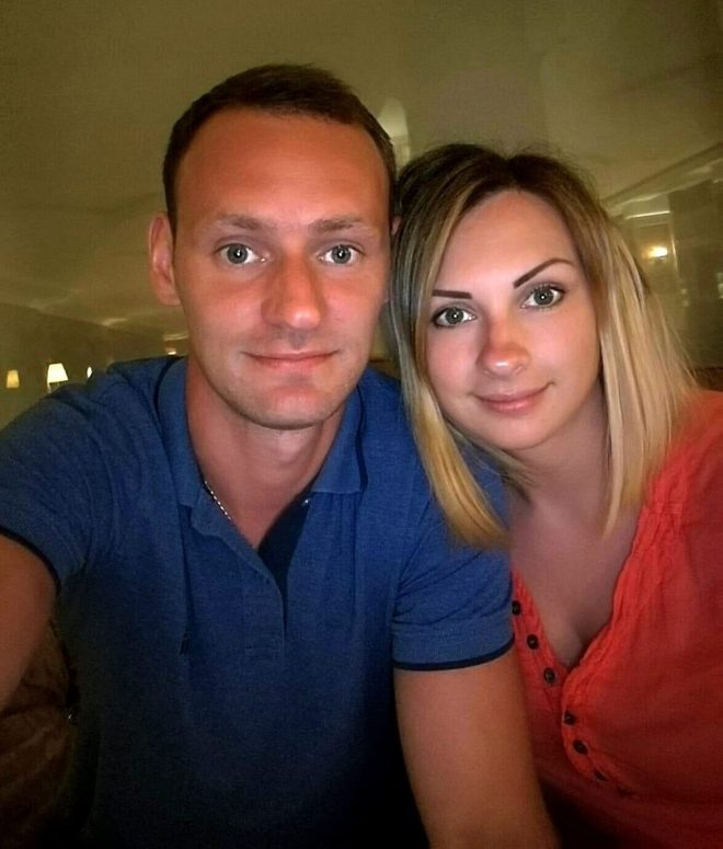 The couple have been named locally as 32-year-old Kiril Nemcev and Lana Nemceva, 23