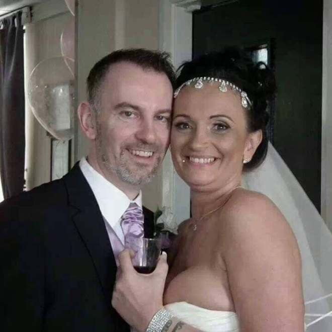 Dana Twidale's husband Carl has slammed her after she was accused of scamming brides