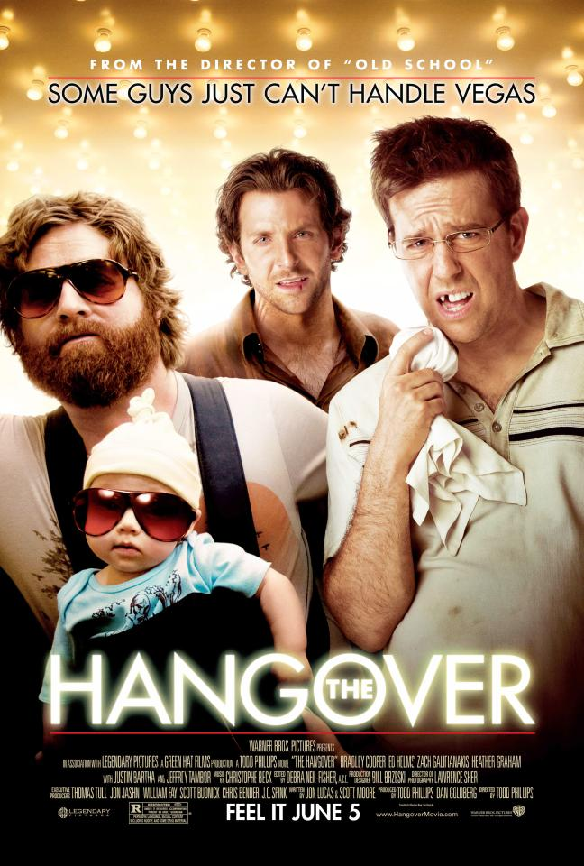 The Hangover stars Zach Galifianakis, Bradley Cooper and Ed Helms in the movie that triggered a new era of stag and hen parties in Sin City