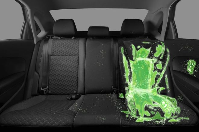 So minging... This is how much faecal bacteria is on and around the average child car seat