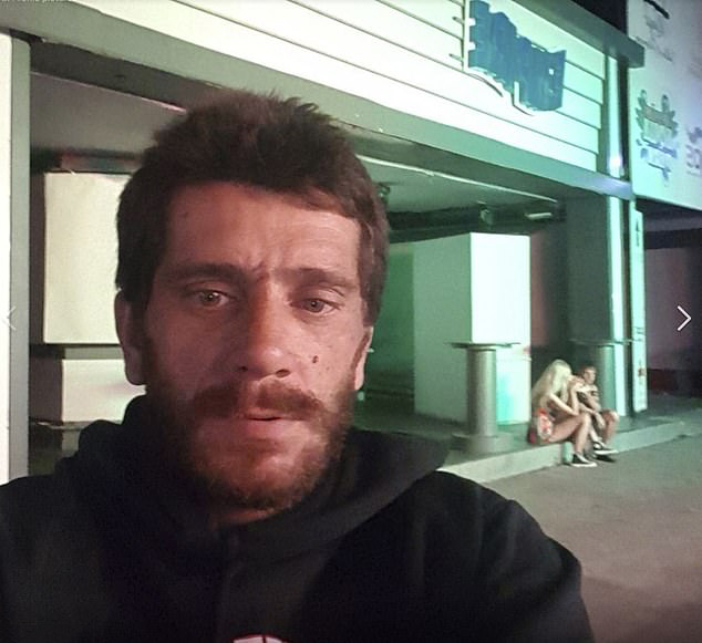 A selfie shows Dimitris Aspiotis,back in the resort
