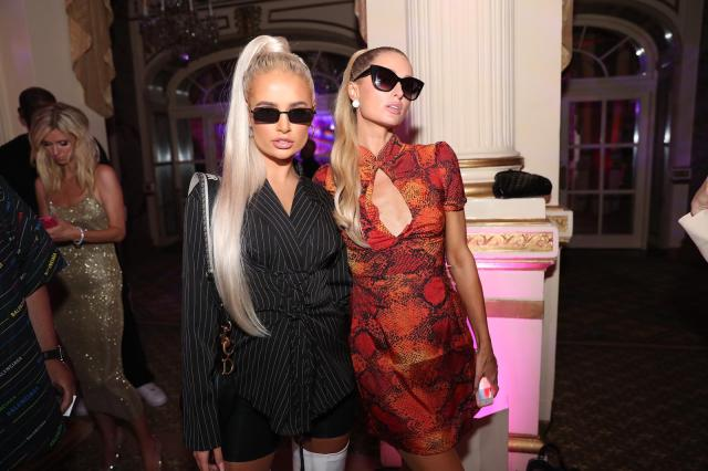 Their reunion came after Molly hung out with Paris Hilton at PrettyLittleThing's fashion show