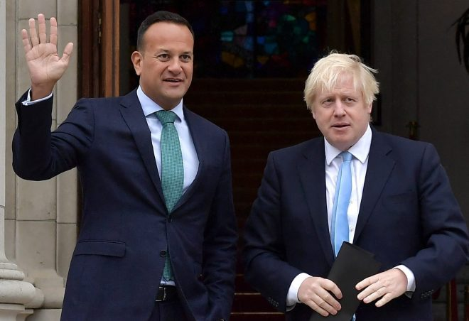 Irish PM Leo Varadkar has told Boris Johnson he must table a new backstop plan before the end of next week