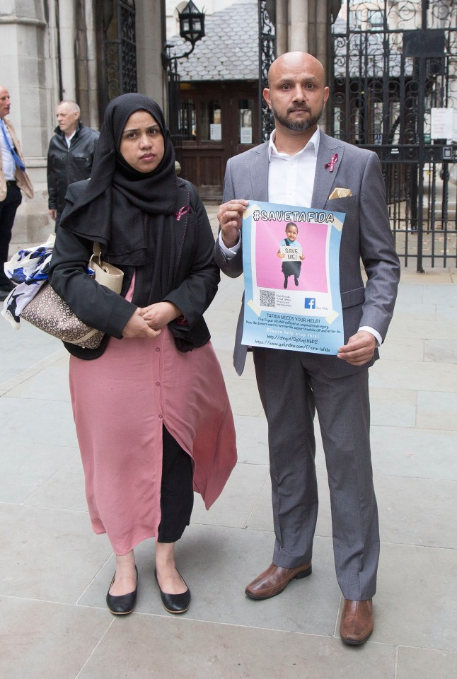 Shelina Begum and Mohammed Raqeeb leave the High Court on Monday