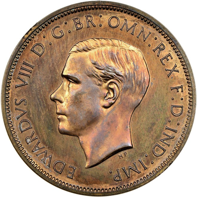 This Edward VII 1937 Pattern Penny sold for £133,000 to a private British collector