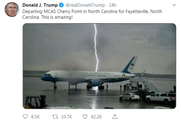 Donald Trump tweeted this dramatic picture