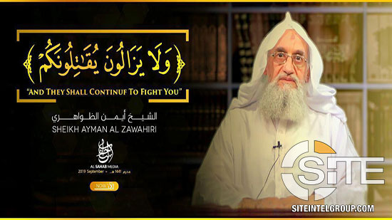 Al-Qaeda releases video speech of leader Ayman al-Zawahiri marking 9/11 attacks