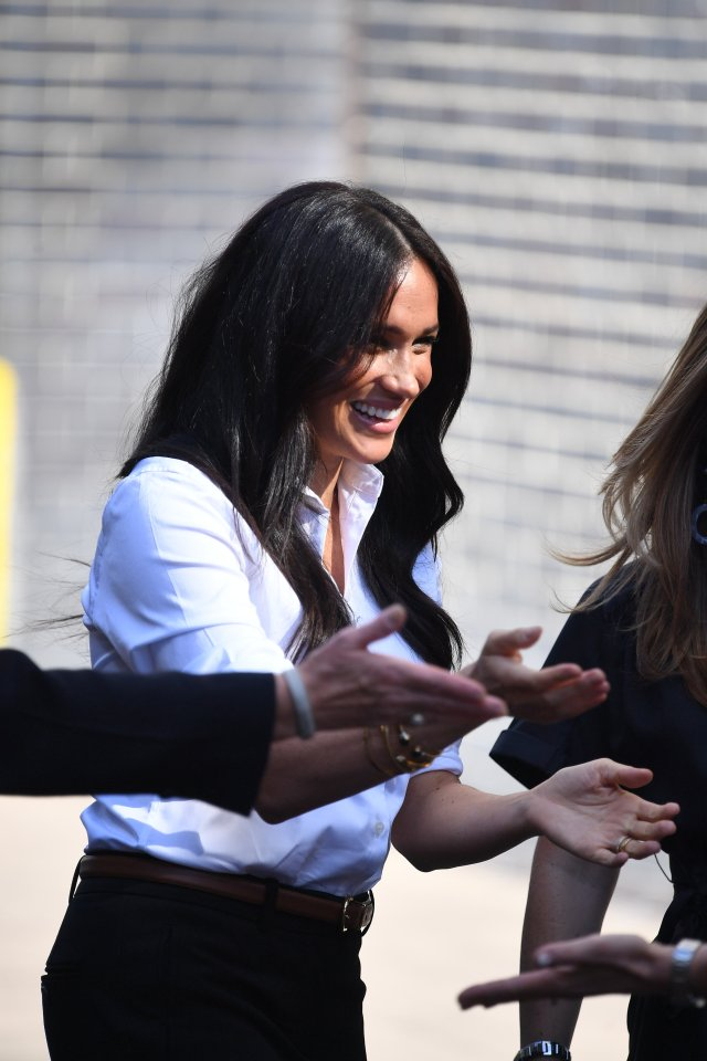 Meghan Markle arrives to launch the Smart Works Collection