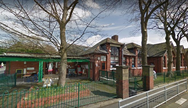 Newhey Community Primary School in Rochdale, Gtr Manchester, has banned kids' surnames on workbooks