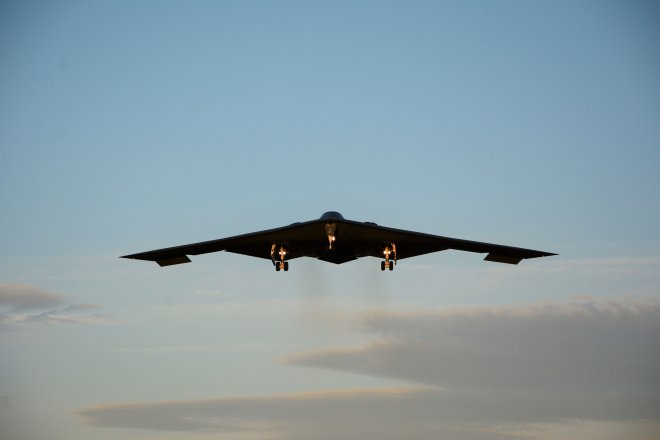The nuclear capable bomber was returning from NATO war games