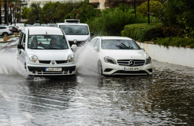Floods and thunderstorms are causing traffic chaos in Ibiza town