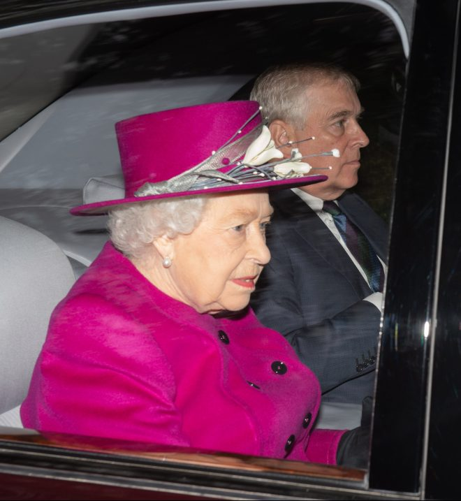 The Queen was spotted with Prince Andrew at Balmoral today