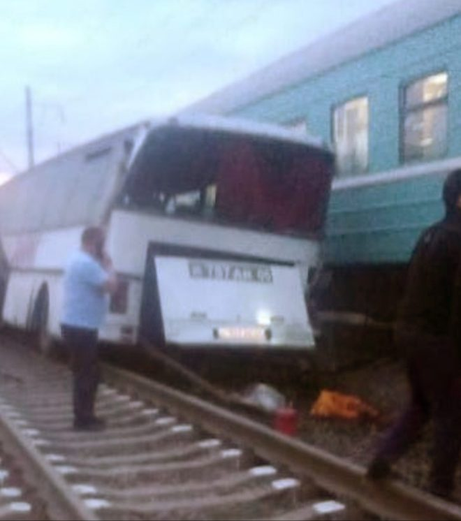 Nine people were also injured in the horror collision in Kazakhstan