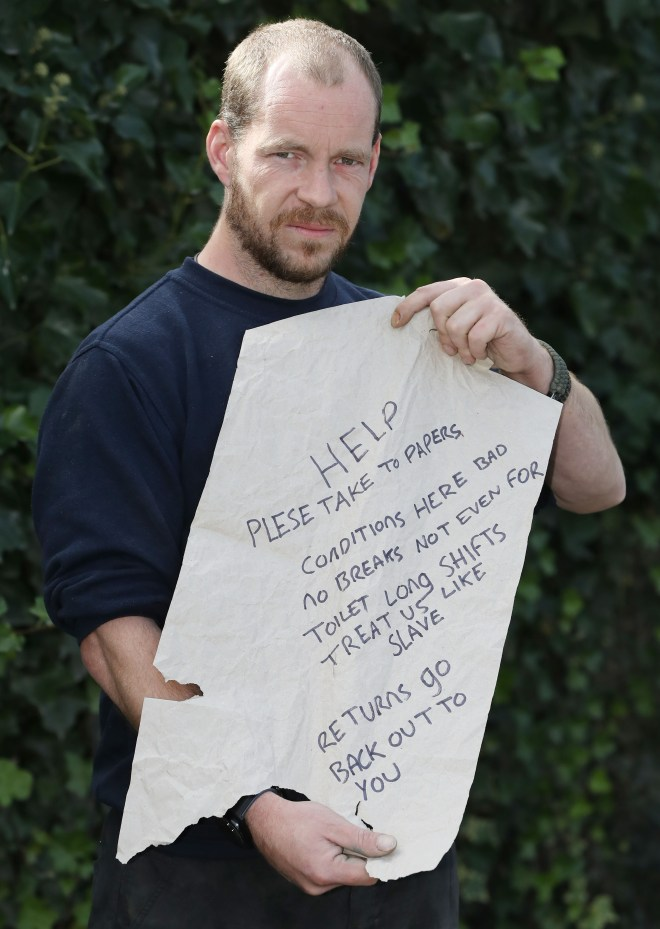 Matt Smith found a note begging for help in his Amazon delivery