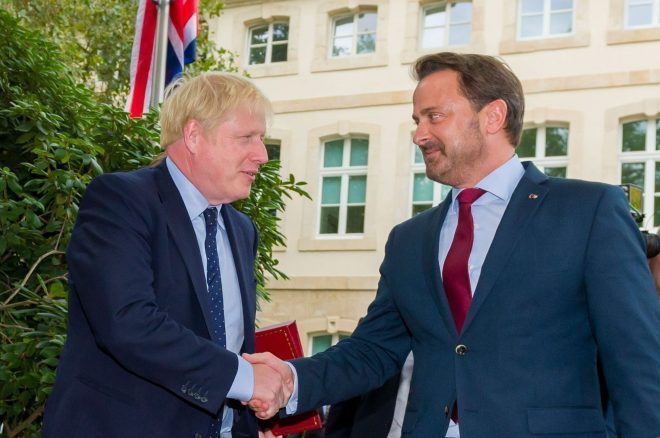 The Luxembourg leader attacked Mr Johnson for not producing detailed plans to replace the Irish backstop