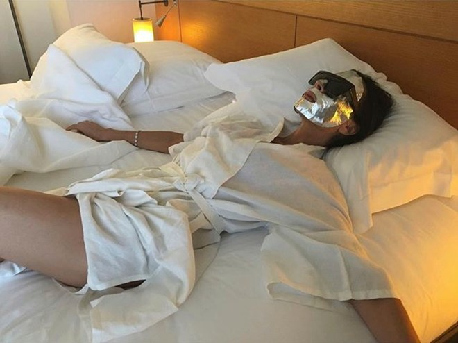 Victoria Beckham frequently wears a face mask in bed along with husband David